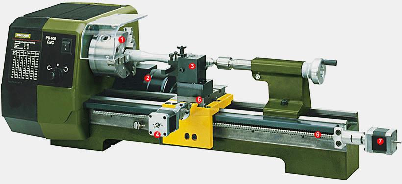 Proxxon Drehmaschine PD 400/CNC 24500